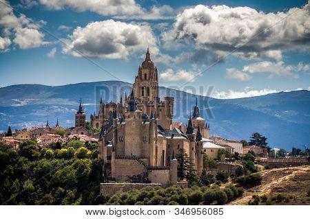 Alcazar Of Segovia Is A Castle In The City Of Segovia In Spain