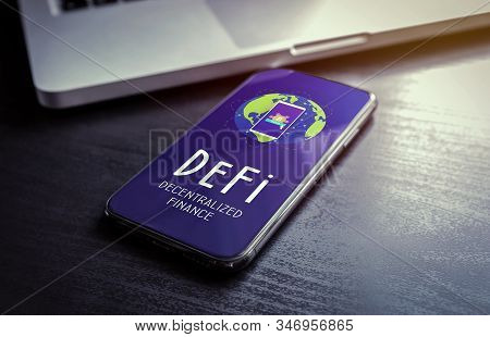 Defi - Decentralized Finance Includes Digital Assets, Smart Contracts, Protocols, And Dapps Built On