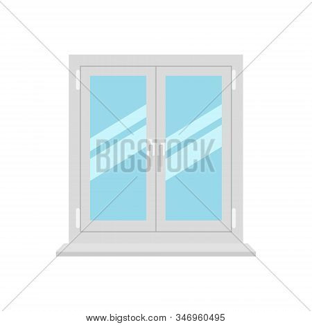 Vector Illstration Of Window On White Background. Isolated.