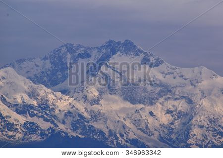 Kanchenjunga, Late Afretnoon View From Darjeeling, West Bengal, India
