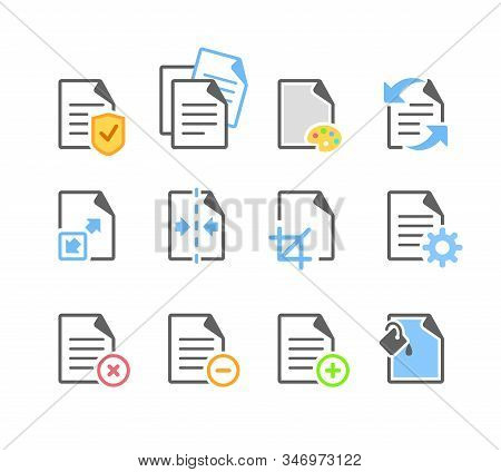 Document File Paper Page Edit Tool Options Modern Icon. File Option Action To Execute. File Navigati