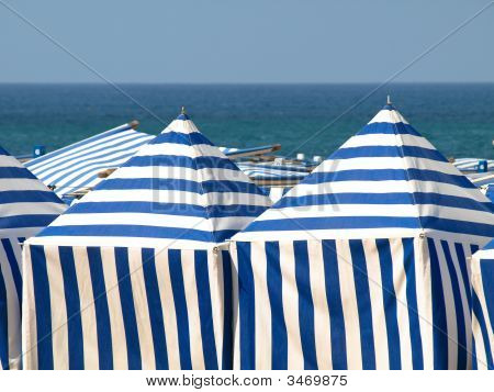 White And Blue Tents