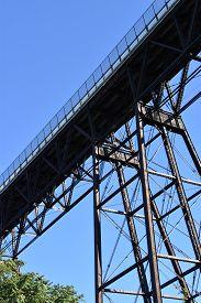 Walkway Over The Hudson, Also Known As The Poughkeepsie  Railroad Bridge, In Poughkeepsie, New York