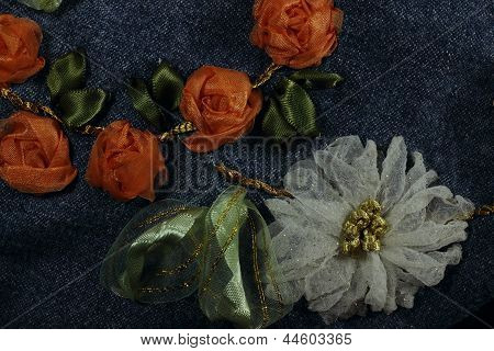 White Chrysanthemum And Orange Roses