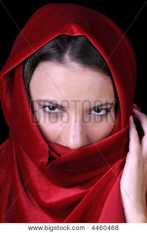 Beautiful Young Woman In Closeup