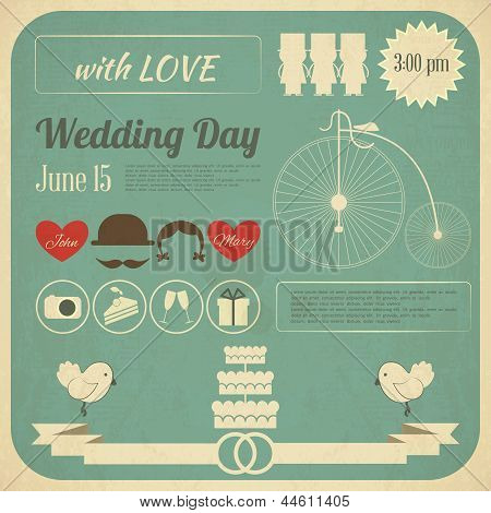 Wedding Invitation Infographics Card