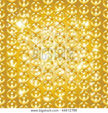 Gold chain seamless abstract pattern. This is file of EPS10 format. poster