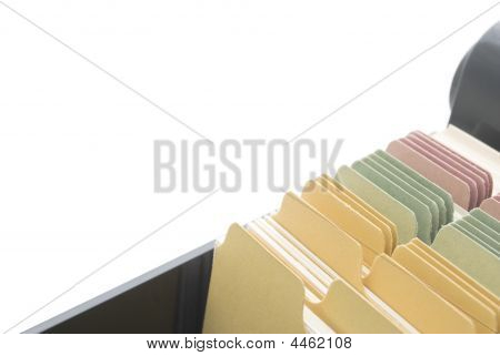 Index Cards - Isolated With Copy Space