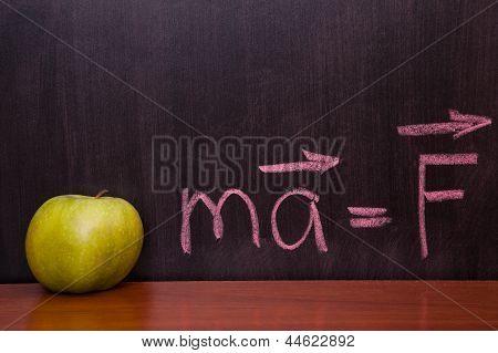 Apples On The Chalkboard.