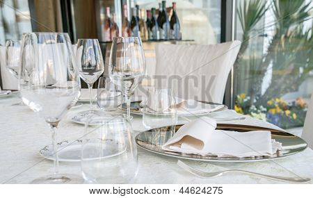 Event Setting Lunch In Restaurant
