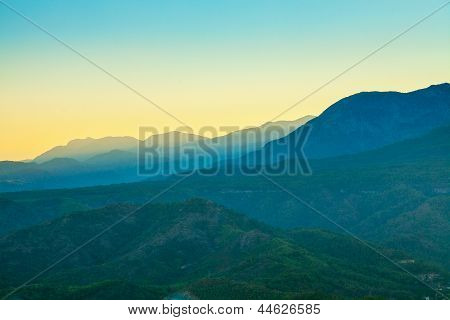 Landscape In The Mountains