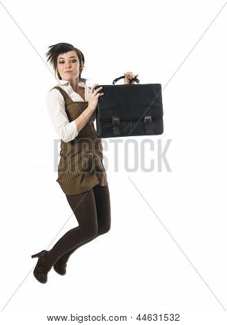 Business Professional Jumping