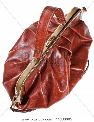 Retro Style Brown Leather Bag