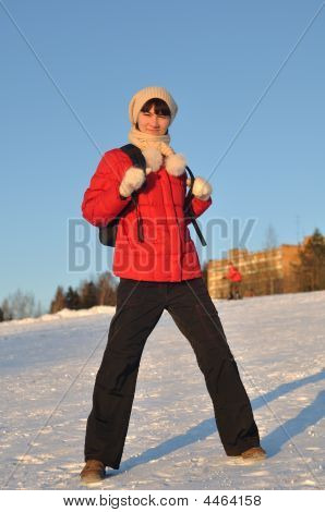 Girl Posing In Winter