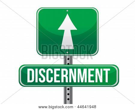 Discernment Road Sign Illustration Design