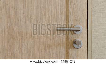 Stainless Steel Handle On Door