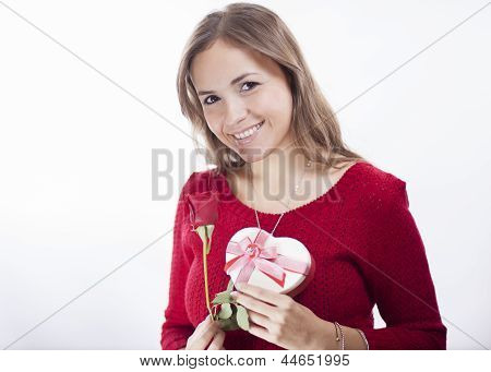 Roses and chocolates for valentines