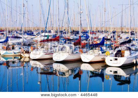 Yachts At Howth Harbor In Dublin, Ireland