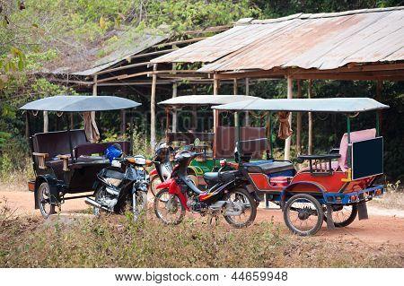 Empty Tuktuks, Cambodia