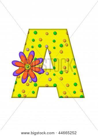 Alphabet Zany Dots A