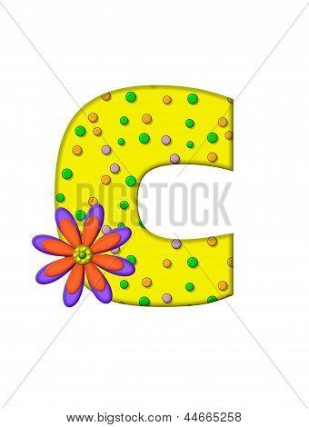 Alphabet Zany Dots C