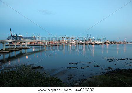 Container Harbor Of Algeciras, Spain