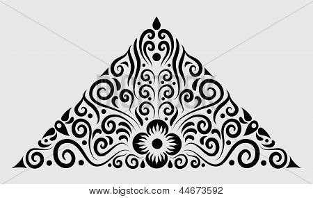 Decorative Border Floral Ornament