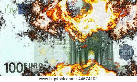 Burning 100 Euro