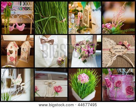 collection of wedding details