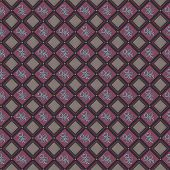 Rhombus Seamless Pattern with symmetric ethical decor poster