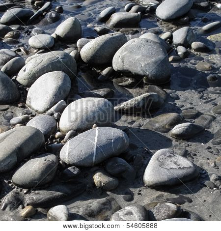 Variety of quartz sandstones lay amongst golden sand