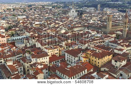 Panorama Of Florence Cityscape, Italy
