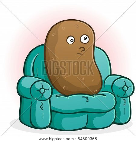 Couch Potato Cartoon Character