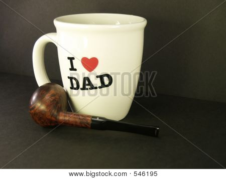 I Love Dad Cup  & Pipe 2