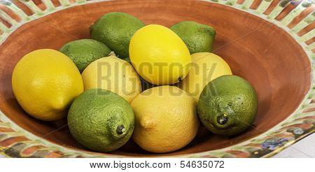 Lemon And Lime Fruit Bowl