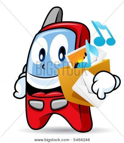 Cellular Phone Mascot