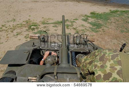 Interior Of A World War Two Tank