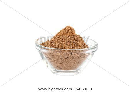 amchur powder in glass bowl