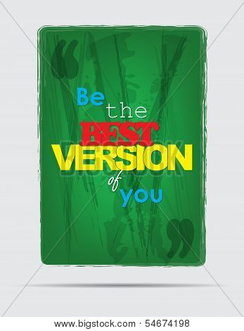 Be The Best. Motivational Background