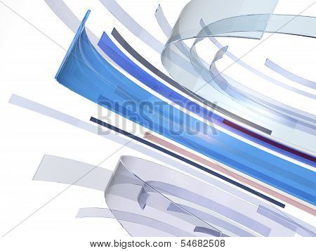 Blue Glass Spin Background