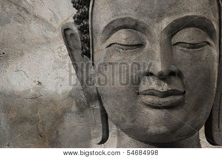 Buddha Face Made Of Wax