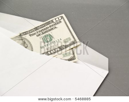 Envelope And Dollars