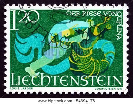 Postage Stamp Liechtenstein 1967 The Giant Of Guflina