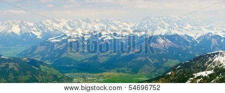 panoramic view from Kitzsteinhorn glacier, Kaprun, Austria