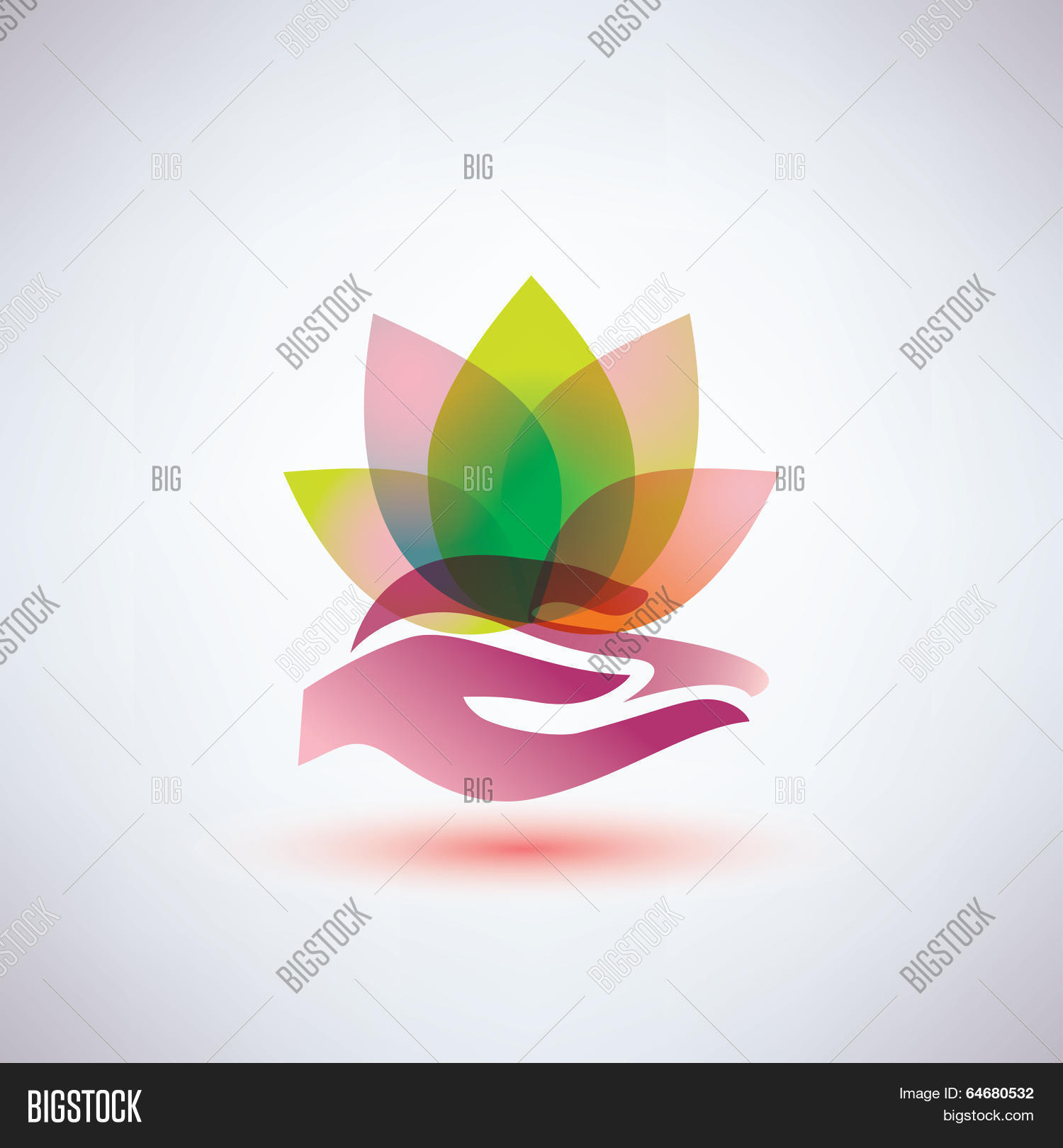 Hands Holding Lotus Vector Photo Free Trial Bigstock