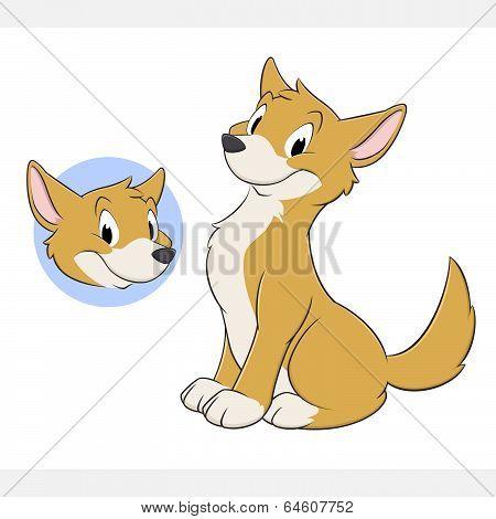 Cartoon Dog Dingo