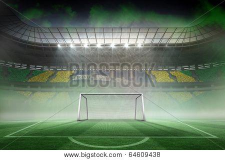 Digitally generated vast football stadium for world cup