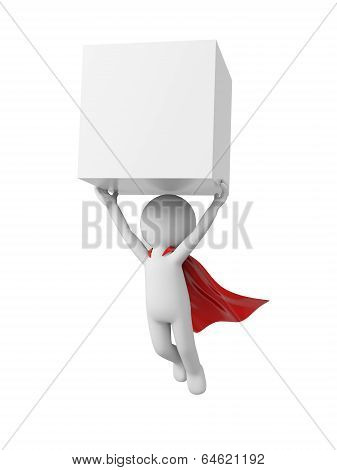Superman with block