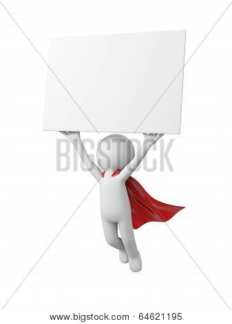 Superman with board