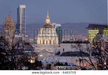 San Francisco City Hall At Twilight